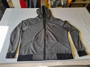 Womens Adidas Climalite Hoodie/Size XL (20-22)/Grey & Black/Good Condition
