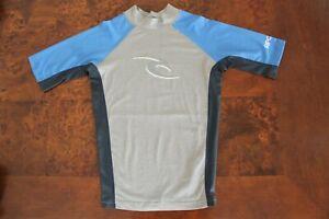 RIP CURL Boys Rashie rash vest tshirt swim top Size 10 AS NEW
