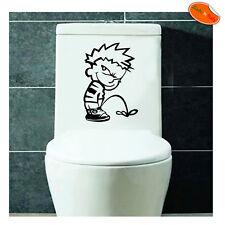 Calvin pipi adesivo Copriwater Sedile tavoletta WC Toilet seat sticker 1 pz.