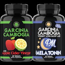 Garcinia Cambogia w. Apple Cider Vinegar and Garcinia PM Sleep Weight Loss Duo