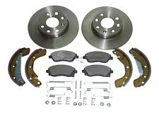 VAUXHALL CORSA C FRONT 2 BRAKE DISCS & PADS REAR SHOES & FITTING KIT NO ABS