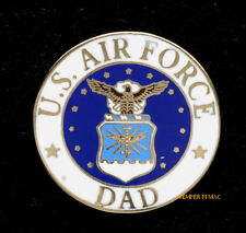 DAD US AIR FORCE FATHER HAT LAPEL VEST PIN UP GRADUATION GIFT MOM ANG WING WOW