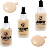 W7 Genius Foundation - Natural Fair Coverage Lightweight Flawless Skin Face