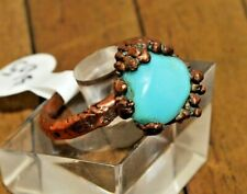 Handcrafted Copper Ring with Large Blue/Green Opal - Size7.5 - Was $65 - A2640*