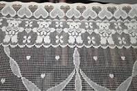 Carousel Horse Teddy Bear Charming Cotton Lace panel Shaker prim art