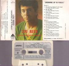 LOU REED Growing up in public  SPANISH CASSETTE 1980 PAPER LABEL SPAIN