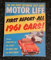 MOTOR LIFE~sept.1960-Corvettes for STREET,DRAG&ROAD-1st report all 1961 CARS