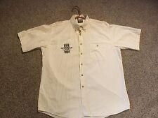1998 York, Pa.15th Ann Harley Davidson Group. Cotton Shirt. Lt. Yellow. Mens L.