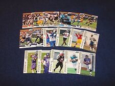 2012 SCORE FOOTBALL LOT OF 17 DIFFERENT GOLD ZONE PARALLEL CARDS (817-30)
