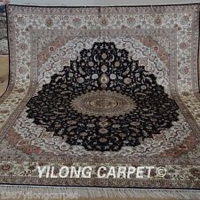 Yilong 8'x10' Large Silk Area Rugs Handknotted Carpets Classic Art Handmade 1247