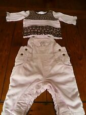 Baby girls H&M dungaree and top set ( 2-4 months)