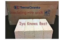 "K-20 Insulating Firebrick 9x 4.5x 2"" IFB Straight Fire Brick INDIVIDUAL BRICKS"