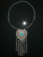 New Necklace Indian Style  Silver Turquoise Red Decorative Fashion Necklace