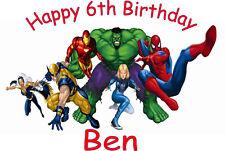 Personalizados A4 Super Heroe, Spiderman, Hulk, Ironman Glaseado Hoja Cake Topper
