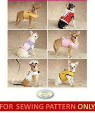 SEWING PATTERN! MAKE DOG CLOTHES!  FITS CHIHUAHUA~TEA CUP DOGS 1 1/2 TO 8 POUNDS