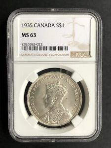 Canada 1935 NGC MS63 1 Dollar