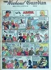 Li'l Abner by Frank Frazetta - full tab page color Sunday comic - Aug. 14, 1955