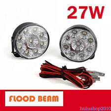 2X 27W LED WORK LIGHT OFFROAD FLOOD Fog LAMP TRUCKs Tractor 12V 24V 4x4 ATV