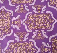 Morning Tides Tribal Mark Cesarik for FreeSpirit BTY MC12 Purple Lavender Yellow
