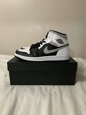 Nike Mens Air Jordan 1 Mid 'White Shadow' Sku:554724-073 Size: 8 Brand New