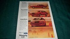 1984 FORD MUSTANG GT ORIGINAL MAGAZINE AD