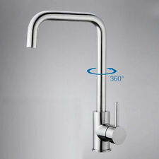 304 Stainless steel Cold&Hot Mixer Water Tap Faucet Kitchen Swivel Basin Sink US