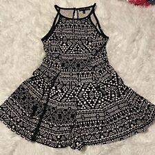 Derek Heart Women Size Small Black & White Southwestern Pattern Sleeveless Dress
