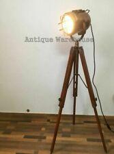 Große ausgefallene Industrial Stehleuchten Dreibein Scheinwerfer Fotolampe rund