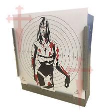 100 Air Rifle Woman Zombie Colour Paper Targets 14cm Pistol Gun 100gsm uk made