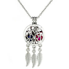 K726 Dream Catcher Beads Pearl Cage Charms Stainless Necklace 20""