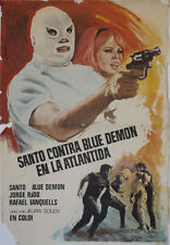 Santo contra Blue Demon en la Atlantida  -- Cartel de Cine Original --