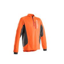 Husqvarna Work Long Sleeve Technical T-Shirt Zip Front Pocket Lightweight Shirt