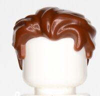 LEGO Minifigure Hair BROWN  Male Boy Swept Back Widow's Peak Side HP12