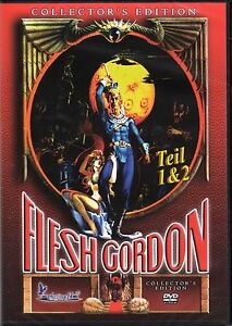 Flesh Gordon 1 & 2 , Double Feature / Collector's Edition , 100% uncut , NEW