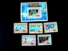 Mauritania #339-40,C156-8 & S/S#C159a, Apollo-Soyouz, 1975, Mint/NH/VF