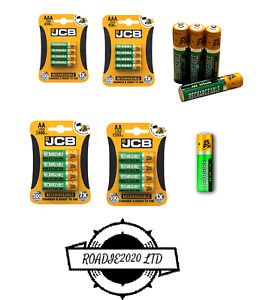 4x JCB Rechargeable Batteries AA AAA PreCharged 650 2400 1200 900mAh Battery