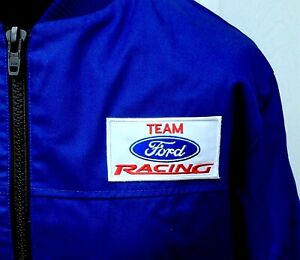 """Team Ford Racing Rally Classic Fully-Lined Badged Bomber Jacket 47 - 49"""" Chest"""