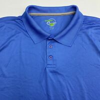 Concepts Performance Polo Shirt Men's Size 2XL XXL Short Sleeve Blue Polyester
