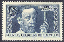 France 1938 1fr75 + 25c Deep Blue Pasteur Scott B59 SG 607 UMM/MNH Cat $35