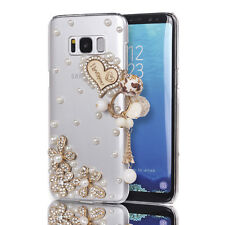 3D Bling Crystal Glitter Diamond Wooden Heart Case For Samsung Galaxy S8 Plus