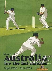 Australia Cricket large steel sign 400mm x 300mm (og)