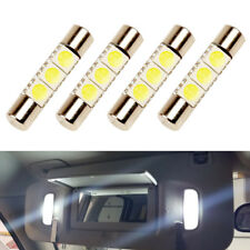 4 x White LED 6614F 6641 TS-14V1CP F30-WHP Fuse Visor Vanity Mirror Light Bulbs