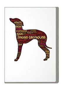 Italian Greyhound Art Print Word Art A4 A3 Mothers Day Gift Personalised Option