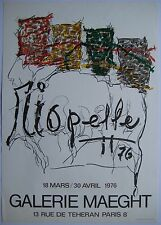 RIOPELLE JEAN PAUL AFFICHE LITHOGRAPHIQUE MAEGHT 1976 LITHOGRAPHIC POSTER QUEBEC