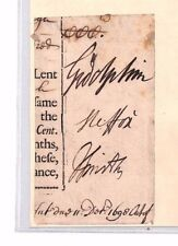 BR77 1698 GB AUTOGRAPH Rare 1st Baron*Godolphin* HORSE RACING Cornwall SPORT