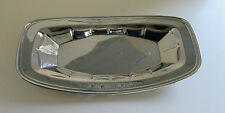"""New listing Vintage Polished Aluminum Bread Dish/Tray 12.5"""" length, floral wreath etching"""