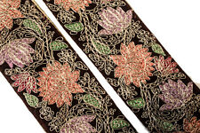 Vintage Indian Sari Border Used Trim 1 Yd Women Antique Sari Trim Ribbon ST2546