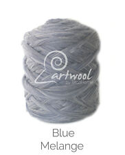 Blue Melange - 1 kg 100% Merino Wool Giant Chunky Yarn Arm Knitting