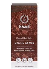 Khadi Naturel Cheveux Couleur - Marron Moyen - Neuf - 100g - Herbes Coloration
