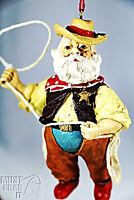 Santa Sheriff with Lasso Christmas Ornament Western Cowboy Tree or Shelf